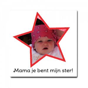 mama je bent mijn ster moederdag tegel