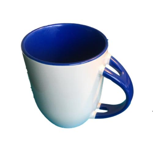 Koffiemok gekleurd blauw zonder lepel