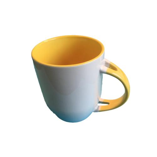 Koffiemok gekleurd geel zonder lepel