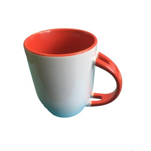 Koffiemok gekleurd rood zonder lepel