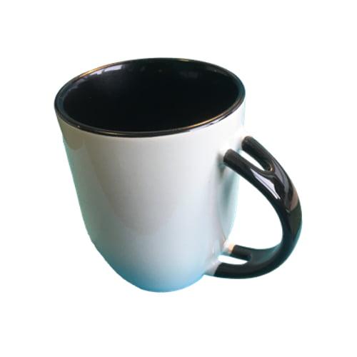 Koffiemok gekleurd zwart zonder lepel