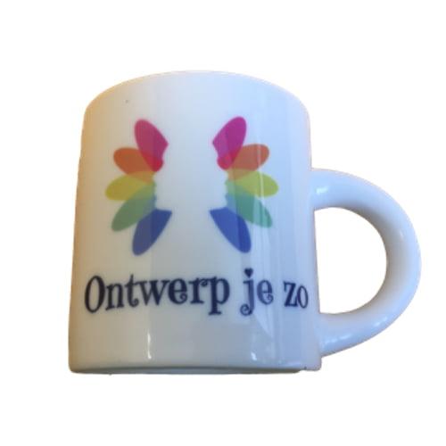 Espresso kopje met logo bedrukt
