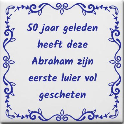 Beroemd Spreuktegel 50 jaar geleden heeft deze Abraham zijn eerste luier  YM-89
