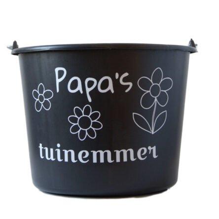 Cadeau emmer met tekst: Papas tuinemmer
