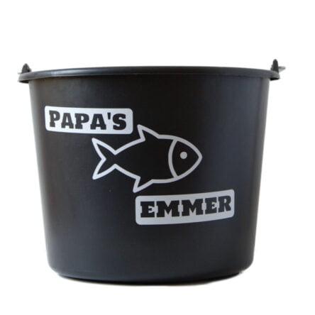 Cadeau emmer met tekst: Papas visemmer