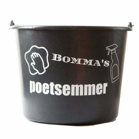 Cadeau emmer met tekst: Bommas poetsemmer